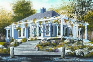 Country Exterior - Front Elevation Plan #23-703