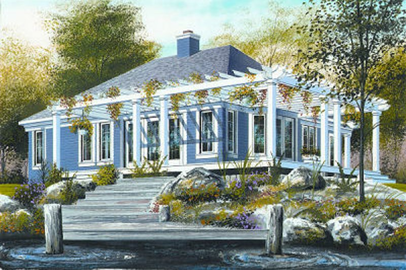 Home Plan - Country Exterior - Front Elevation Plan #23-703