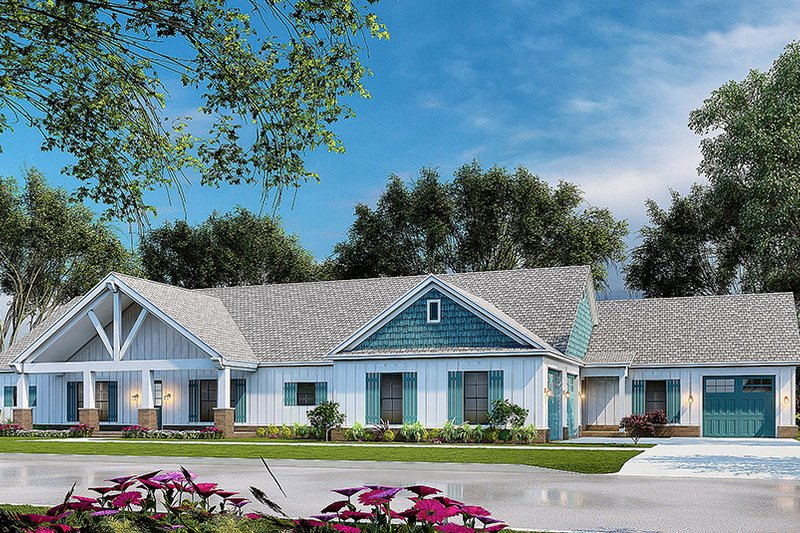 Architectural House Design - Traditional Exterior - Front Elevation Plan #923-212
