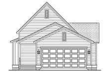 Cottage Exterior - Rear Elevation Plan #430-63