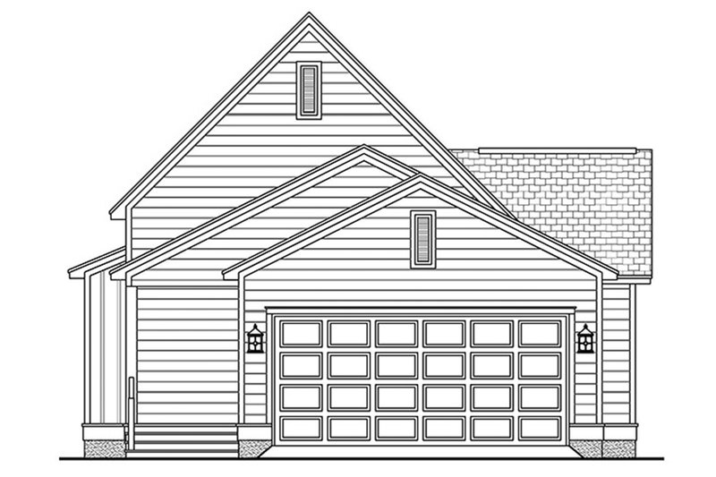 Cottage Exterior - Rear Elevation Plan #430-63 - Houseplans.com
