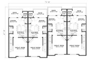 Traditional Style House Plan - 2 Beds 2.5 Baths 5456 Sq/Ft Plan #17-1173 Floor Plan - Main Floor Plan
