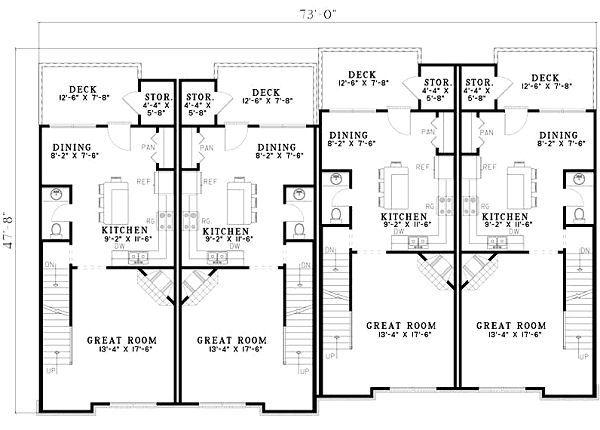 Traditional Floor Plan - Main Floor Plan Plan #17-1173