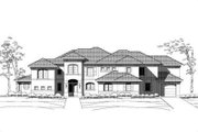 Mediterranean Style House Plan - 5 Beds 5.5 Baths 5403 Sq/Ft Plan #411-102 Exterior - Front Elevation