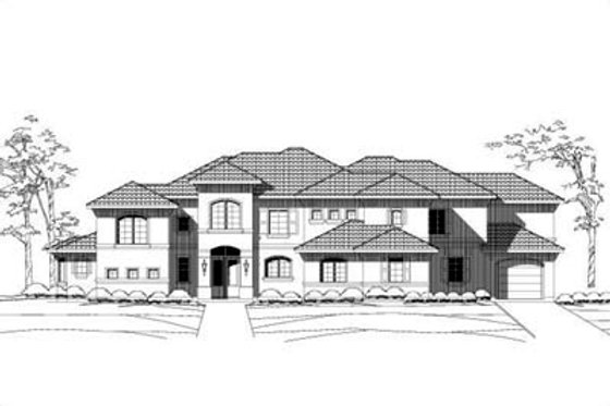 Mediterranean Exterior - Front Elevation Plan #411-102