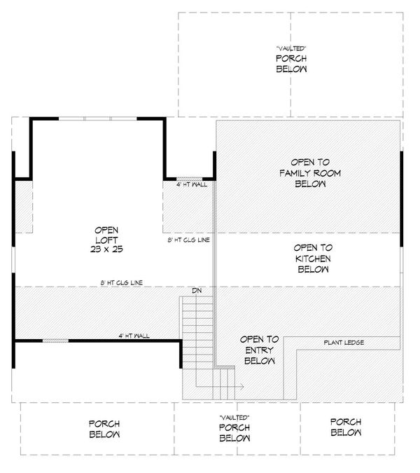 Dream House Plan - Cabin Floor Plan - Upper Floor Plan #932-123