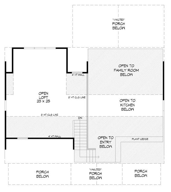 Cabin Floor Plan - Upper Floor Plan #932-123