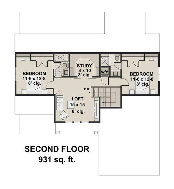 Farmhouse Floor Plan - Upper Floor Plan Plan #51-1146