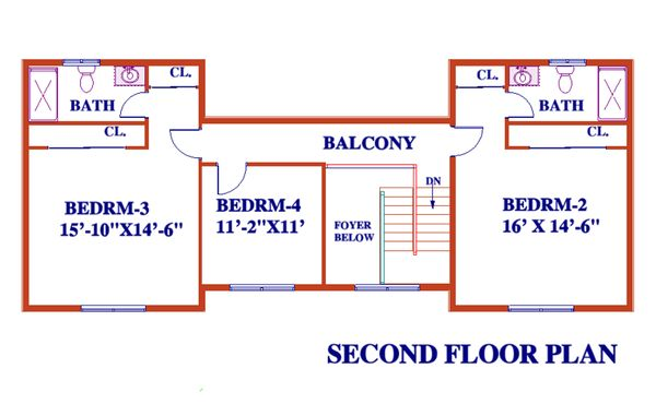 Dream House Plan - Farmhouse Floor Plan - Upper Floor Plan #3-344