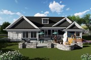 Ranch Style House Plan - 3 Beds 2.5 Baths 2130 Sq/Ft Plan #70-1421 Exterior - Rear Elevation