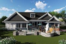 House Plan Design - Ranch Exterior - Rear Elevation Plan #70-1421