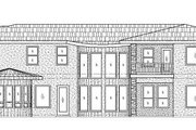 Mediterranean Style House Plan - 7 Beds 4 Baths 5447 Sq/Ft Plan #24-289 Exterior - Rear Elevation
