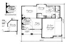 Traditional Floor Plan - Main Floor Plan Plan #20-2076