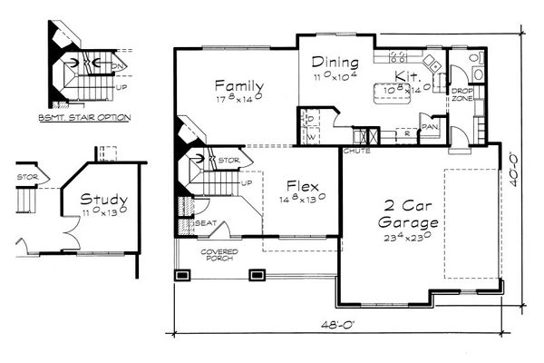 House Plan Design - Traditional Floor Plan - Main Floor Plan #20-2076