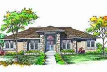 House Blueprint - Exterior - Front Elevation Plan #72-313