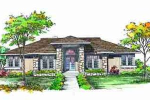 Exterior - Front Elevation Plan #72-313