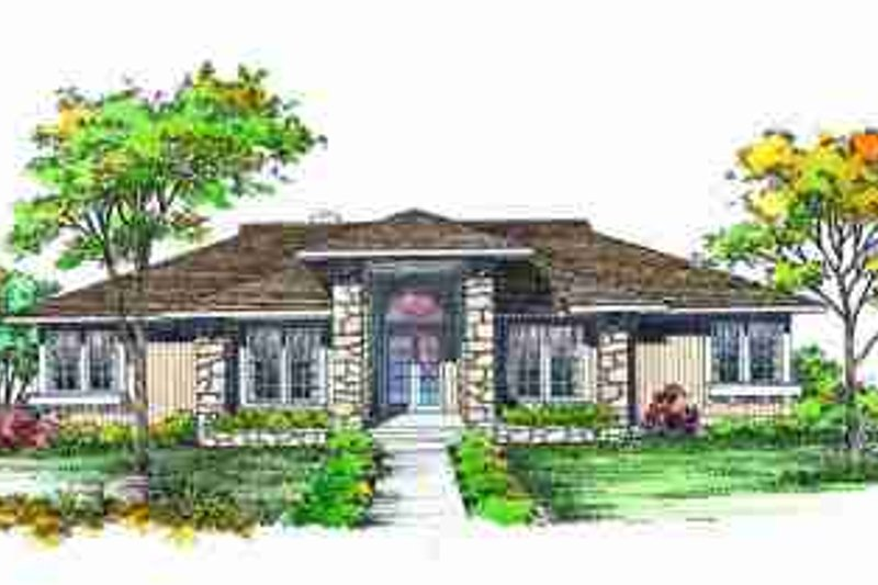 Dream House Plan - Exterior - Front Elevation Plan #72-313