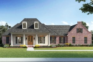 Southern Exterior - Front Elevation Plan #1074-2