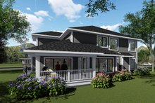 House Plan Design - Modern Exterior - Rear Elevation Plan #70-1429