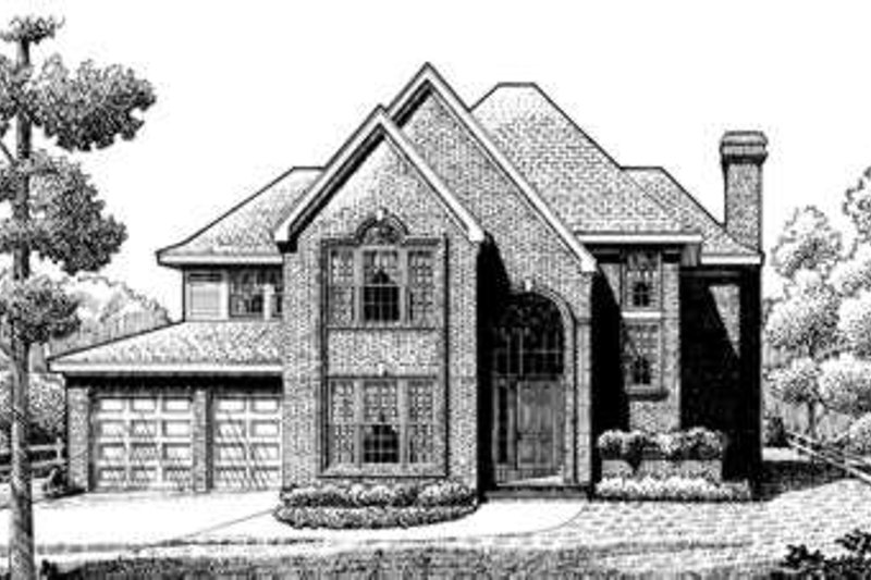 European Exterior - Front Elevation Plan #410-237
