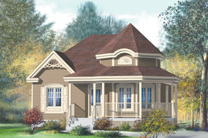 Victorian Exterior - Front Elevation Plan #25-4304