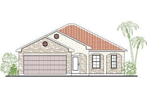 Mediterranean Exterior - Front Elevation Plan #80-131
