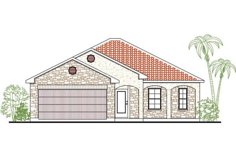 House Plan Design - Mediterranean Exterior - Front Elevation Plan #80-131