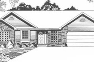 Dream House Plan - Traditional Exterior - Front Elevation Plan #58-150