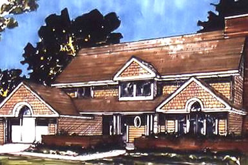 Country Exterior - Front Elevation Plan #320-442