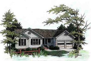 Traditional Exterior - Front Elevation Plan #56-106