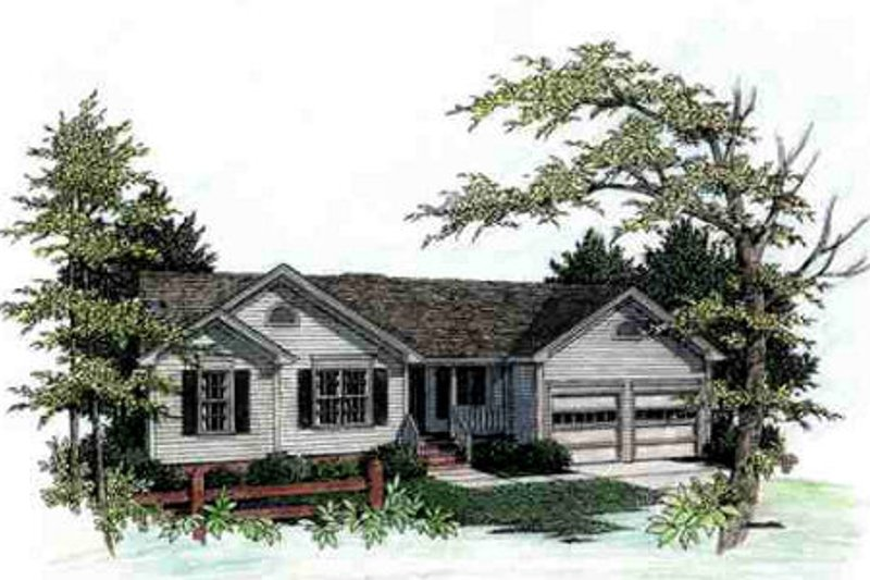 House Plan Design - Traditional Exterior - Front Elevation Plan #56-106