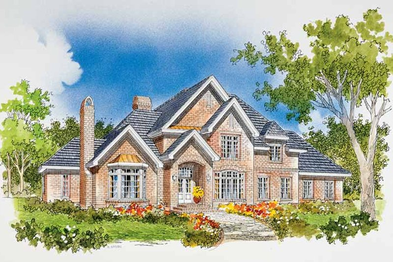 Dream House Plan - Traditional Exterior - Front Elevation Plan #929-284