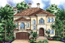 House Plan Design - Mediterranean Exterior - Front Elevation Plan #1017-37