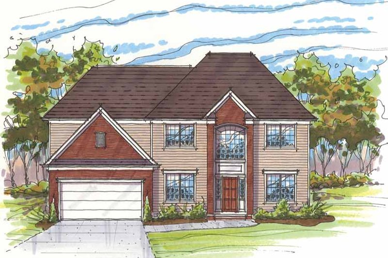 Traditional Exterior - Front Elevation Plan #435-7 - Houseplans.com
