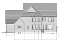 Architectural House Design - Colonial Exterior - Rear Elevation Plan #1010-174
