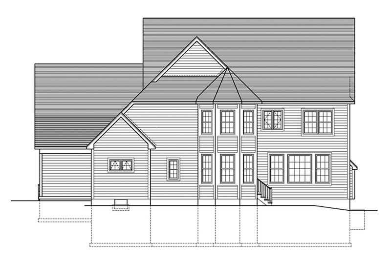 Colonial Exterior - Rear Elevation Plan #1010-174 - Houseplans.com