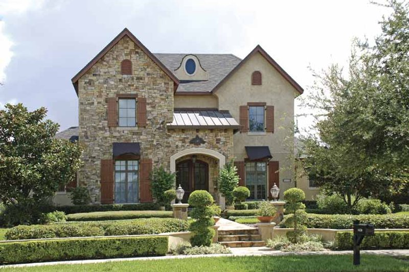 Home Plan - European Exterior - Front Elevation Plan #1019-5