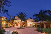 Mediterranean Style House Plan - 5 Beds 5 Baths 8088 Sq/Ft Plan #930-327 Exterior - Front Elevation