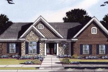 Ranch Exterior - Front Elevation Plan #46-828