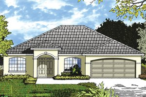 Ranch Exterior - Front Elevation Plan #417-839