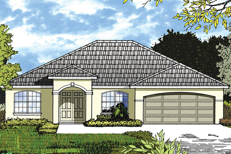 Architectural House Design - Ranch Exterior - Front Elevation Plan #417-839