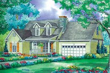 Country Exterior - Front Elevation Plan #17-3195