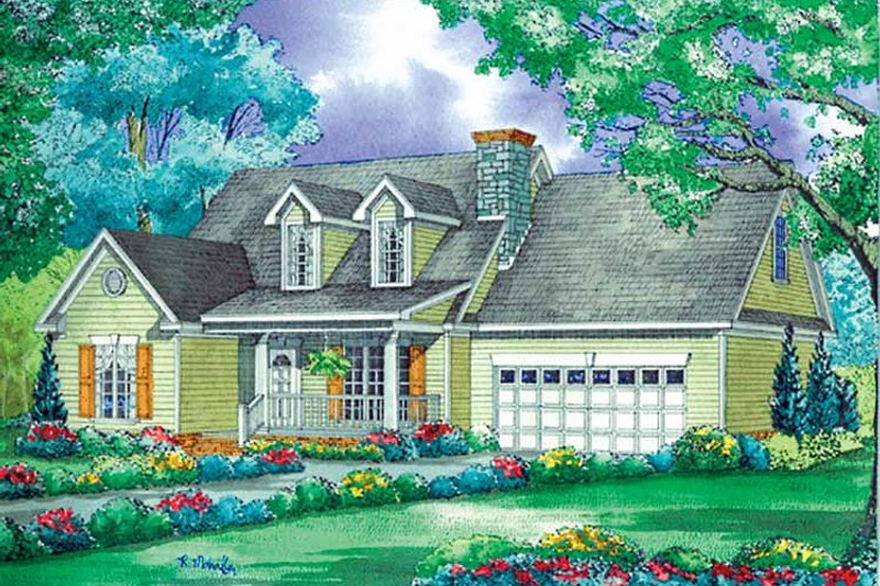 Home Plan - Country Exterior - Front Elevation Plan #17-3195