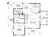 Country Style House Plan - 3 Beds 2.5 Baths 2637 Sq/Ft Plan #17-3381 Floor Plan - Main Floor Plan