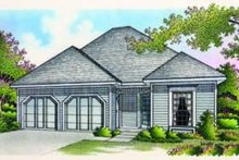 Cottage Exterior - Front Elevation Plan #45-183