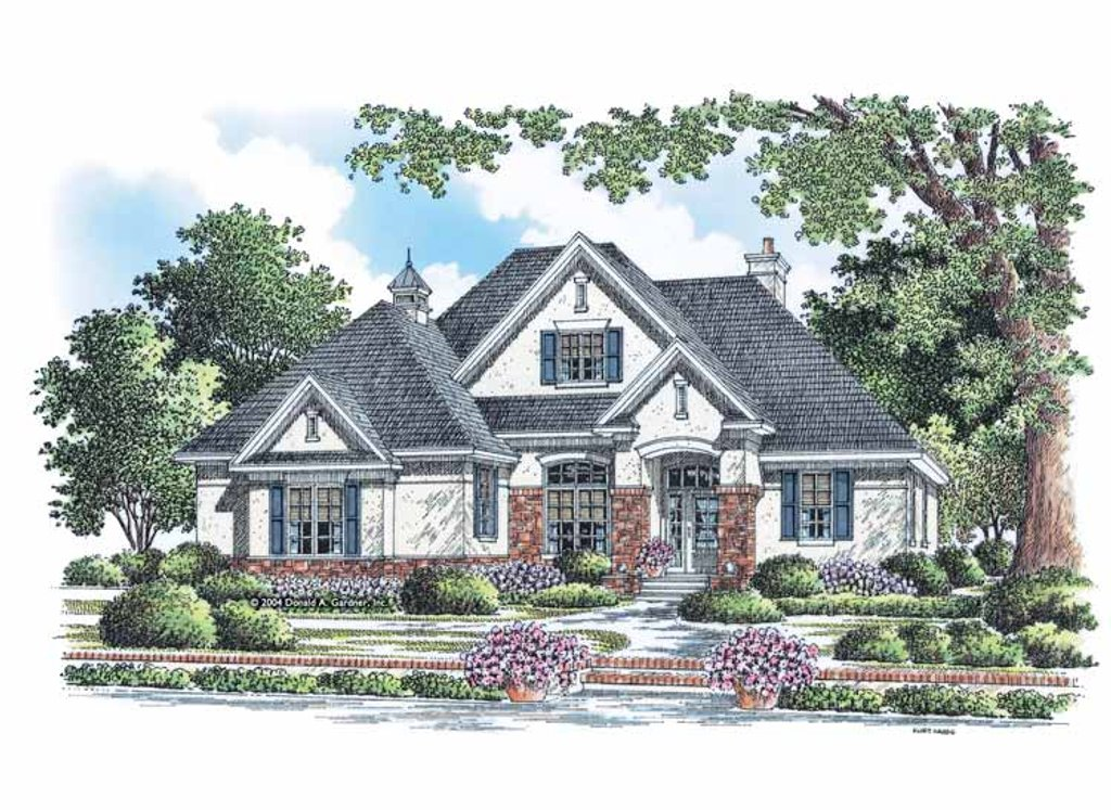 European style house plan 3 beds 2 baths 1821 sq ft plan for Www homeplans com