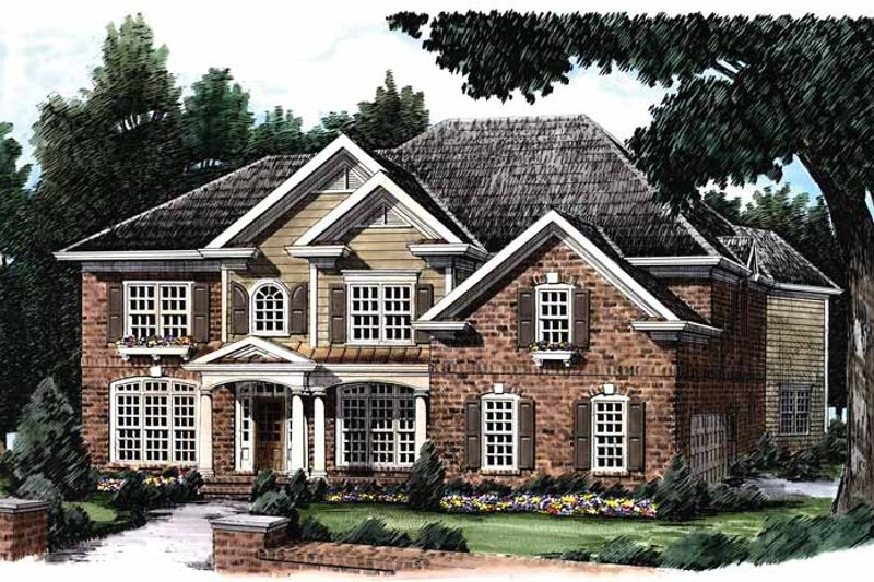 Colonial Exterior - Front Elevation Plan #927-832