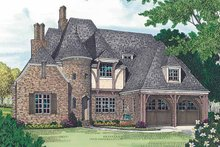 House Plan Design - Country Exterior - Front Elevation Plan #453-453