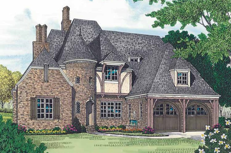 Country Exterior - Front Elevation Plan #453-453