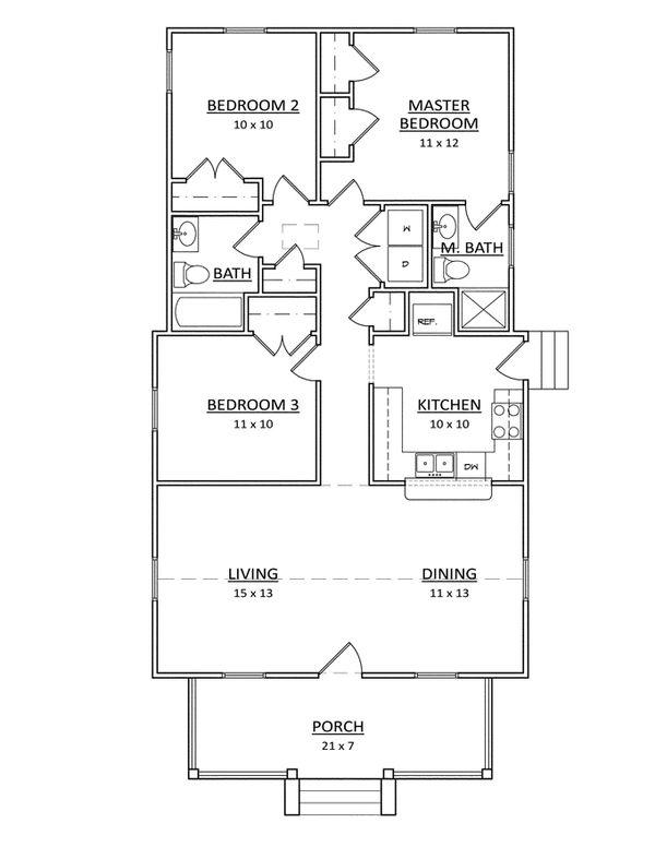 Craftsman Floor Plan - Main Floor Plan Plan #936-23